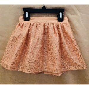 Sparkly peach and gold skirt